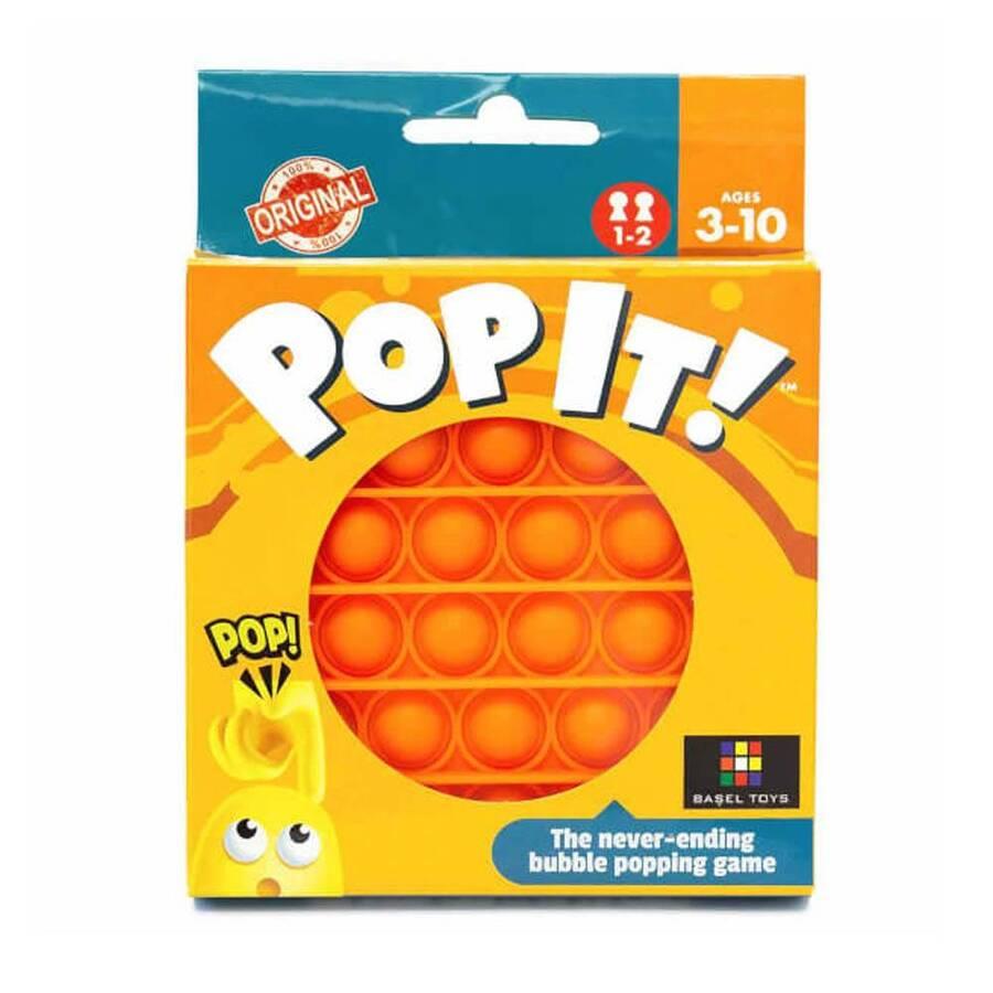 Push Pop Bubble Pop It Duyusal Oyuncak Özel Pop Stres Yuvarlak Turuncu