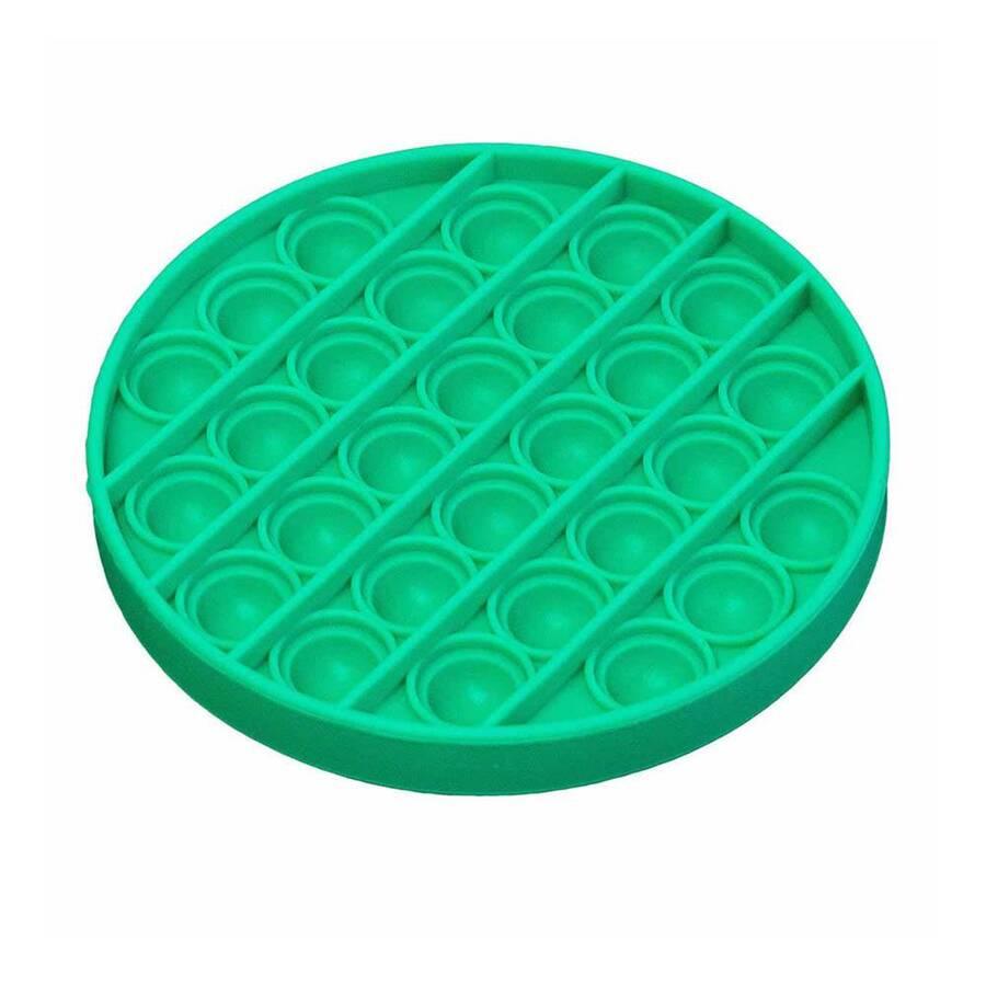 Push Pop Bubble Pop It Duyusal Oyuncak Özel Pop Stres Yuvarlak Yeşil