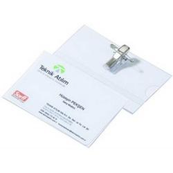 Sarff - Sarff Kokart PVC Klipsli 300 Mic Yatay 54x86 mm 50'li