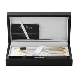 Scrikss - Scrikss 3'lü Takım 722 W Balıksırtı Desen Gold Krom