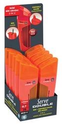 Serve - Serve 0.7 mm 2B 80 Adet Min + Fosforlu Kalem Kırmızı