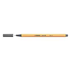 Stabilo - Stabilo Point 88 Keçeli Kalem 0.4 mm Koyu Gri