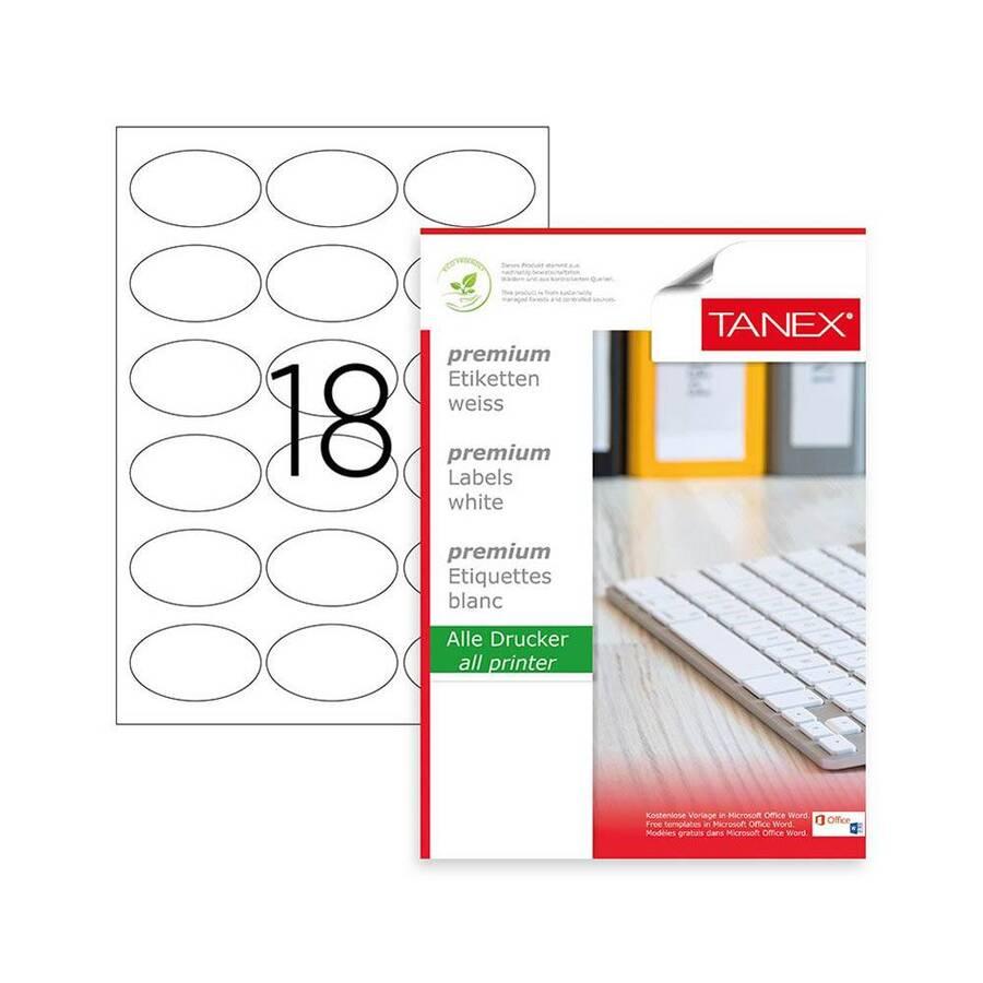 Tanex Laser Etiket Kod 2118 58.4mm x 42.3mm