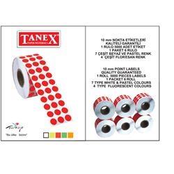 Tanex - Tanex Nokta Etiketi 10 mm 5000 Etiket Sarı