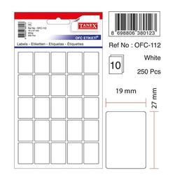 Tanex - Tanex Ofis Etiketi 19 x 27 Beyaz Kod Ofc-112