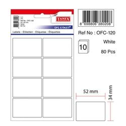 Tanex - Tanex Ofis Etiketi 34x55 Beyaz Kod