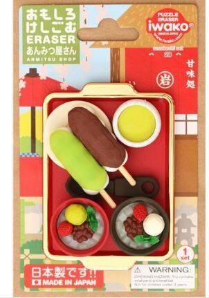 Taros Iwako Puzzle Eraser Anmitusu Shop Set