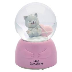Taros Kar Küresi Orta Boy Işıklı Cats - Thumbnail