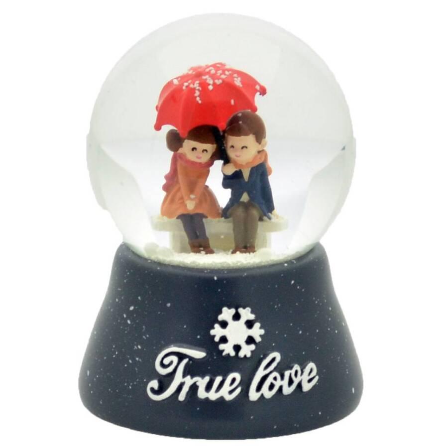 Taros Kar Küresi Orta Boy Işıklı True Love