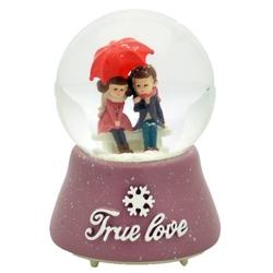 Taros Kar Küresi Orta Boy Işıklı True Love - Thumbnail