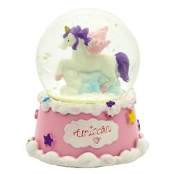 Taros Orta Boy Işıklı Unicorn Kar Küresi - Thumbnail
