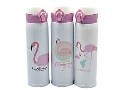 Taros Unick Color Flamingo Çelik Matara 500 ml - Thumbnail
