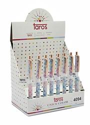 Taros - Taros Unick Color Tükenmez Kalem Rainbow Simli