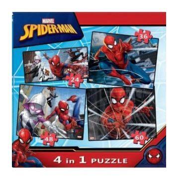 Trio Spiderman Puzzle 4 in 1