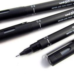 Uni-Ball - Uni-Ball İğne Uçlu Kalem 0.2 mm Siyah